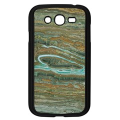 Brown And Green Marble Stone Print Samsung Galaxy Grand Duos I9082 Case (black) by Dushan