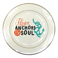 Hope Anchors The Soul Nautical Quote Porcelain Plates by CraftyLittleNodes