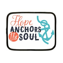 Hope Anchors The Soul Nautical Quote Netbook Case (small)  by CraftyLittleNodes