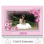 lilly 2016 (any Year) Calendar - Wall Calendar 11  x 8.5  (12-Months)