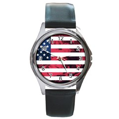Usa5 Round Metal Watches by ILoveAmerica