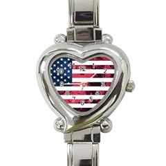 Usa5 Heart Italian Charm Watch by ILoveAmerica
