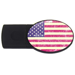 Usa99 Usb Flash Drive Oval (2 Gb)  by ILoveAmerica