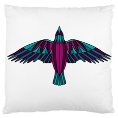 Stained Glass Bird Illustration  Large Cushion Cases (two Sides)  by carocollins