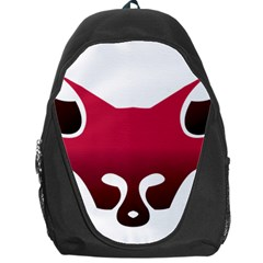 Fox Logo Red Gradient  Backpack Bag by carocollins