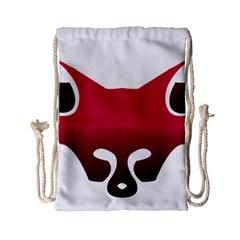 Fox Logo Red Gradient  Drawstring Bag (Small) by carocollins