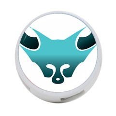 Fox Logo Blue Gradient 4 Port Usb Hub (two Sides)  by carocollins