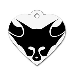 Black Fox Logo Dog Tag Heart (two Sides) by carocollins
