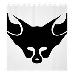 Black Fox Logo Shower Curtain 66  X 72  (large)
