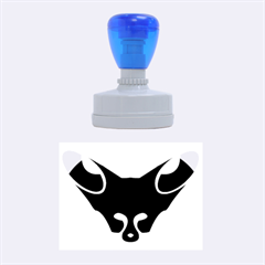 Black Fox Logo Rubber Oval Stamps