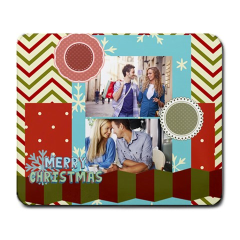 Xmas By Joy   Collage Mousepad   8sy9wi5t5asr   Www Artscow Com 9.25 x7.75 Mousepad - 1