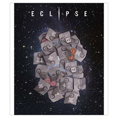 Eclipse By Herbert Harengel   Drawstring Pouch (small)   Z19iff2hx7cc   Www Artscow Com Front