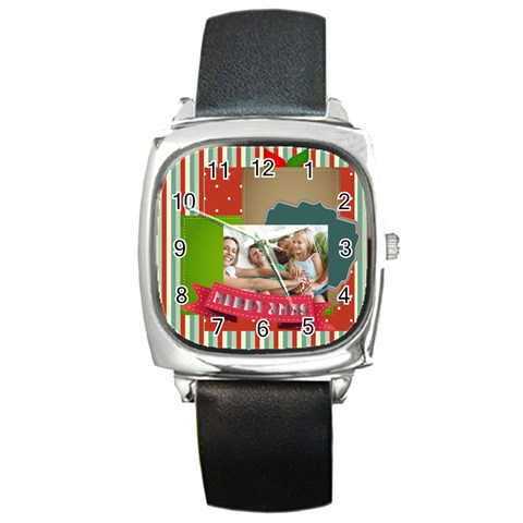 Snow By Joy   Square Metal Watch   A52nitb91xcv   Www Artscow Com Front