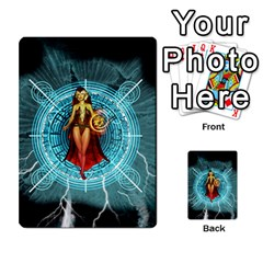 Beautiful Witch With Magical Background Multi Purpose Cards (rectangle)  by FantasyWorld7