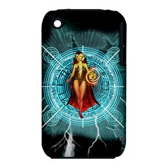 Beautiful Witch With Magical Background Apple Iphone 3g/3gs Hardshell Case (pc+silicone)