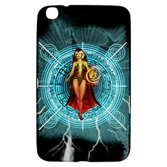 Beautiful Witch With Magical Background Samsung Galaxy Tab 3 (8 ) T3100 Hardshell Case  by FantasyWorld7
