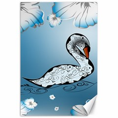 Wonderful Swan Made Of Floral Elements Canvas 20  X 30   by FantasyWorld7