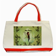 Cute Elf Playing For Christmas Classic Tote Bag (red)  by FantasyWorld7
