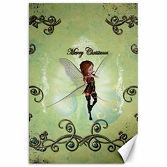 Cute Elf Playing For Christmas Canvas 20  X 30   by FantasyWorld7