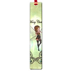 Cute Elf Playing For Christmas Large Book Marks by FantasyWorld7