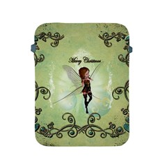 Cute Elf Playing For Christmas Apple iPad 2/3/4 Protective Soft Cases by FantasyWorld7