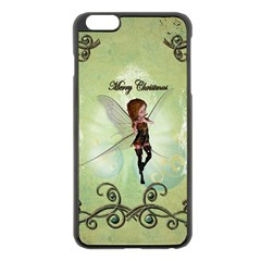 Cute Elf Playing For Christmas Apple Iphone 6 Plus/6s Plus Black Enamel Case by FantasyWorld7