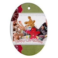 Xmas By Betty   Oval Ornament (two Sides)   Cij5igwoxzym   Www Artscow Com Front