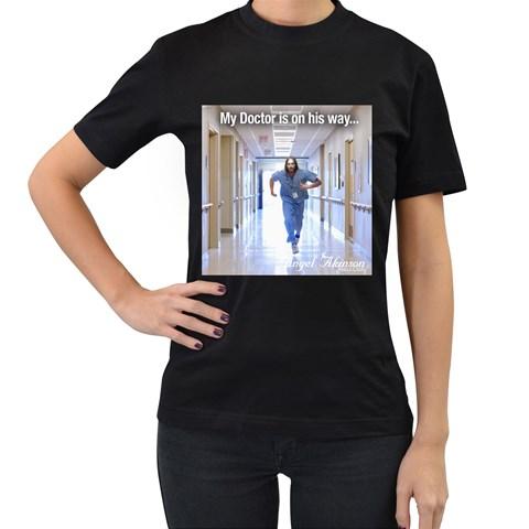 Angel Akinson Tee Shirt Black By Pamela Sue Goforth   Women s T Shirt (black)   Lh1zm9ue79gd   Www Artscow Com Front