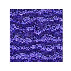 Alien Skin Blue Small Satin Scarf (square)