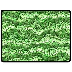 Alien Skin Green Double Sided Fleece Blanket (large)  by ImpressiveMoments