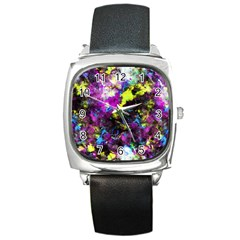 Colour Splash G264 Square Metal Watches by MedusArt