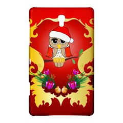 Funny, Cute Christmas Owl  With Christmas Hat Samsung Galaxy Tab S (8.4 ) Hardshell Case  by FantasyWorld7