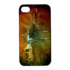 Beautiful Abstract Floral Design Apple iPhone 4/4S Hardshell Case with Stand by FantasyWorld7