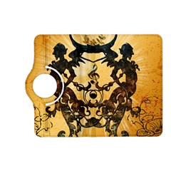 Clef With Awesome Figurative And Floral Elements Kindle Fire Hd (2013) Flip 360 Case by FantasyWorld7