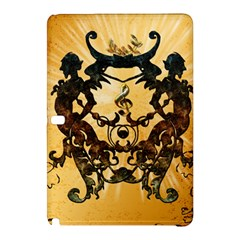 Clef With Awesome Figurative And Floral Elements Samsung Galaxy Tab Pro 12.2 Hardshell Case by FantasyWorld7