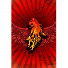 Lion With Flame And Wings In Yellow And Red 5.5  x 8.5  Notebooks by FantasyWorld7