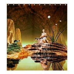 Wonderful Undergraund World Shower Curtain 66  x 72  (Large)  by FantasyWorld7