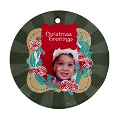 Xmas By Joy   Round Ornament (two Sides)   Ikd271hb3csn   Www Artscow Com Back