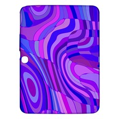 Retro Abstract Blue Pink Samsung Galaxy Tab 3 (10.1 ) P5200 Hardshell Case
