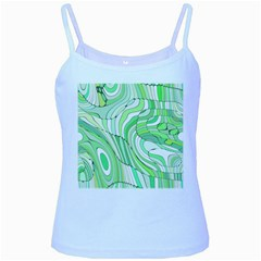 Retro Abstract Green Baby Blue Spaghetti Tanks by ImpressiveMoments