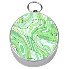 Retro Abstract Green Silver Compasses by ImpressiveMoments