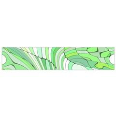Retro Abstract Green Flano Scarf (small)  by ImpressiveMoments
