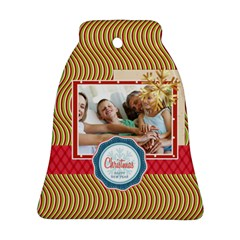 Xmas By Joy   Bell Ornament (two Sides)   Ovqudh2jcned   Www Artscow Com Front