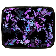 Splatter Blue Pink Netbook Case (large)	 by MoreColorsinLife