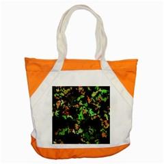 Splatter Red Green Accent Tote Bag  by MoreColorsinLife