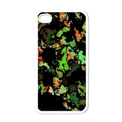 Splatter Red Green Apple Iphone 4 Case (white) by MoreColorsinLife