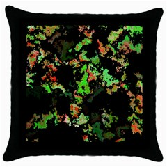 Splatter Red Green Throw Pillow Cases (black) by MoreColorsinLife