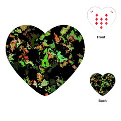 Splatter Red Green Playing Cards (heart)  by MoreColorsinLife