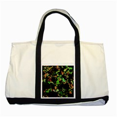 Splatter Red Green Two Tone Tote Bag  by MoreColorsinLife