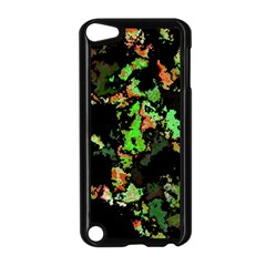 Splatter Red Green Apple iPod Touch 5 Case (Black) by MoreColorsinLife
